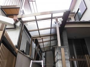 リフォのエクステリアリフォーム 大阪府羽曳野市 テラス屋根取替え工事
