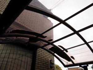 リフォのエクステリア修繕 東大阪市 カーポート屋根張替え