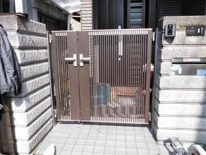 リフォのエクステリアリフォーム 大阪府羽曳野市 門扉取替え工事