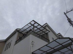リフォのエクステリア工事 大阪市平野区 テラス・カーポート新設工事