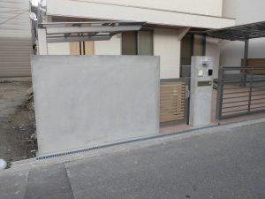 リフォの外構エクステリアリフォーム 大阪市淀川区 外構リフォーム、サイドパネル取付工事
