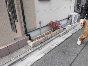 リフォの外構リフォーム 東大阪市 花壇撤去土間打ち工事