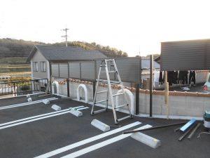 リフォの外構リフォーム 堺市南区 フェンス取付工事