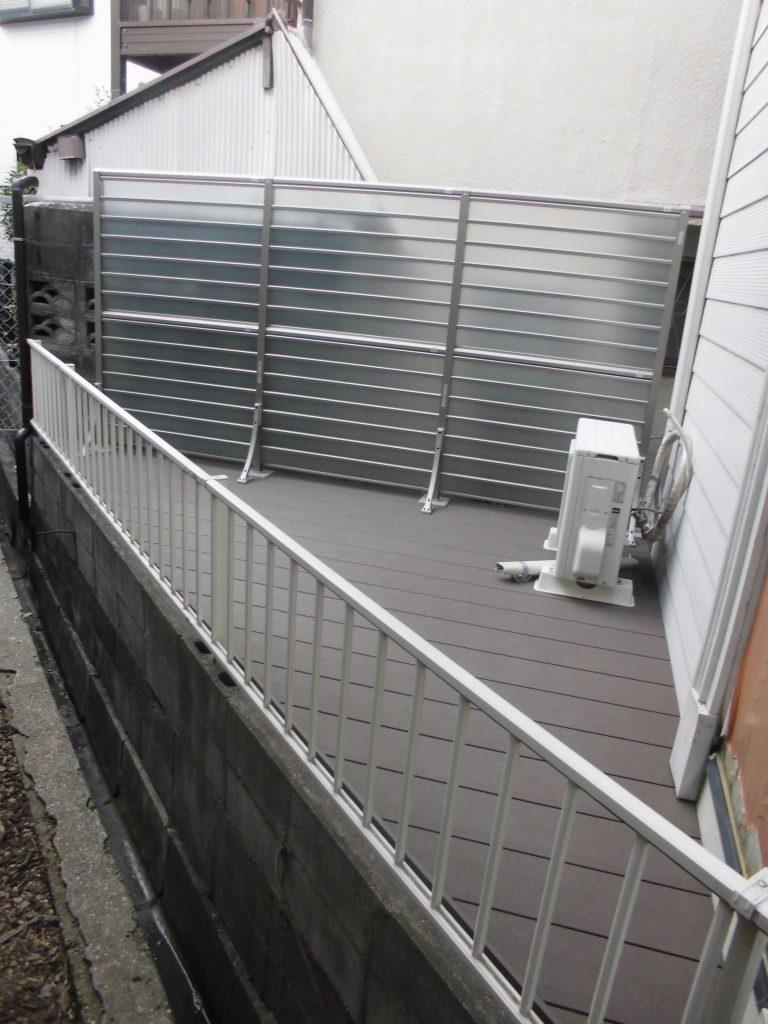 リフォのエクステリアリフォーム 池田市 樹ら楽ステージ設置工事