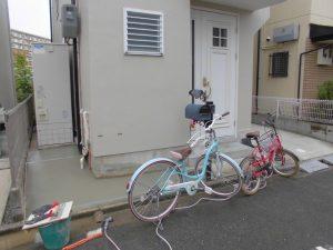 リフォの外構改修工事 高槻市 駐輪スペース作り!